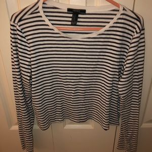 Striped 3/4 Length Sleeve Shirt